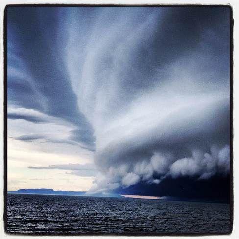 Giant Storm Clouds over Lake Superior at Thunder Bay May 31, 2013