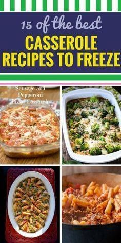 15 Casserole Recipes 15 Casserole Recipes to Freeze. Looking for...  15 Casserole Recipes 15 Casserole Recipes to Freeze. Looking for a healthy meal option for your family? From soup to chicken youll never dread dinner with these amazing simple casserole recipes. Recipe : http://ift.tt/1hGiZgA And @ItsNutella  http://ift.tt/2v8iUYW