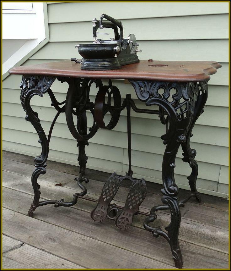 RARE~ ANTIQUE FANCY LEG FLORENCE ~BONNET TOP-FLAT BELT~ TREADLE SEWING MACHINE  | eBay