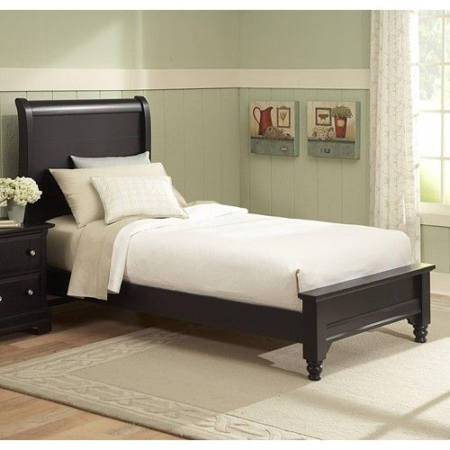 Cottage Full Sleigh Bed W Low Footboard By Vaughan