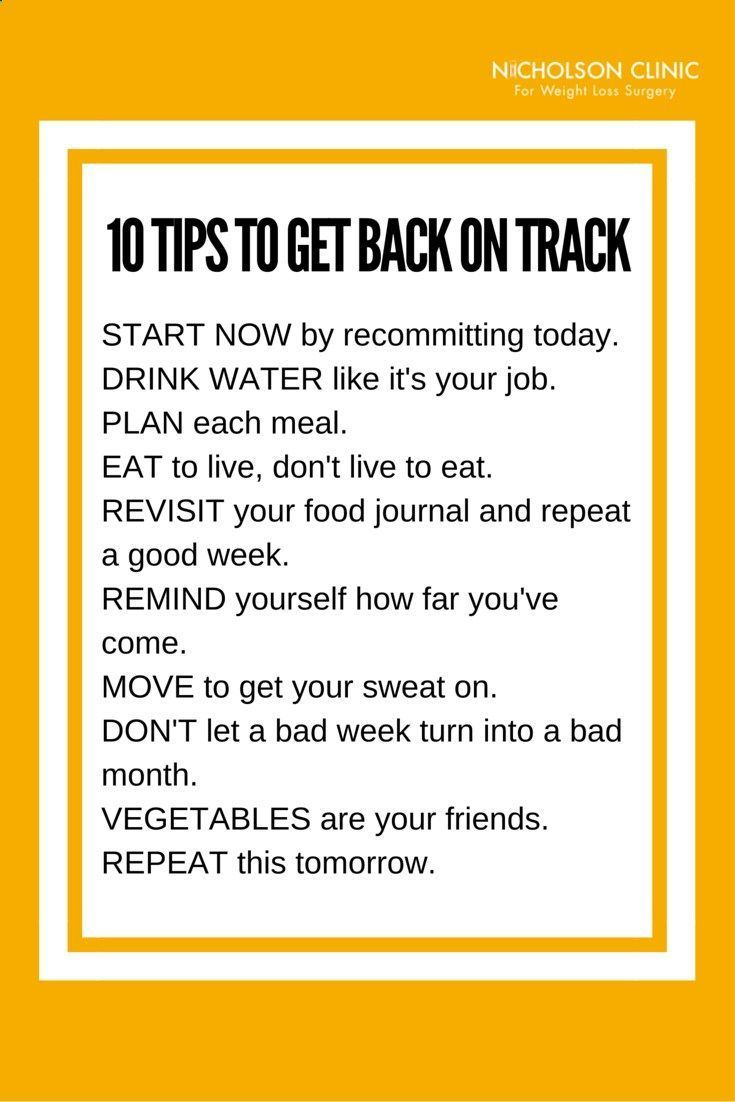 feel like youve fallen off track with your weight loss plan here