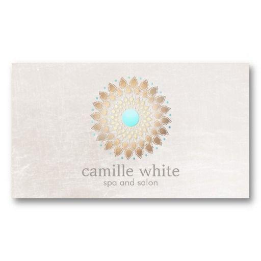 Cosmetology Elegant Circle Shimmery Blush White Business Card