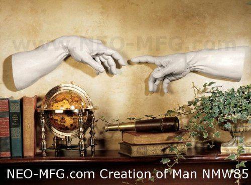 HISTORY CREATION OF MAN ADAM HANDS SCULPTURE STATUE 30