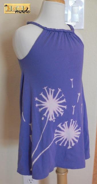Wishing flower dress - easy how-to: Color, Flower Dresses, Bleach Pen, Homemade, Dress Designs