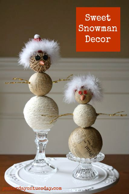 Fun snowman decor christmas cheer pinterest snowman for Home decor accents holiday decorations accessories