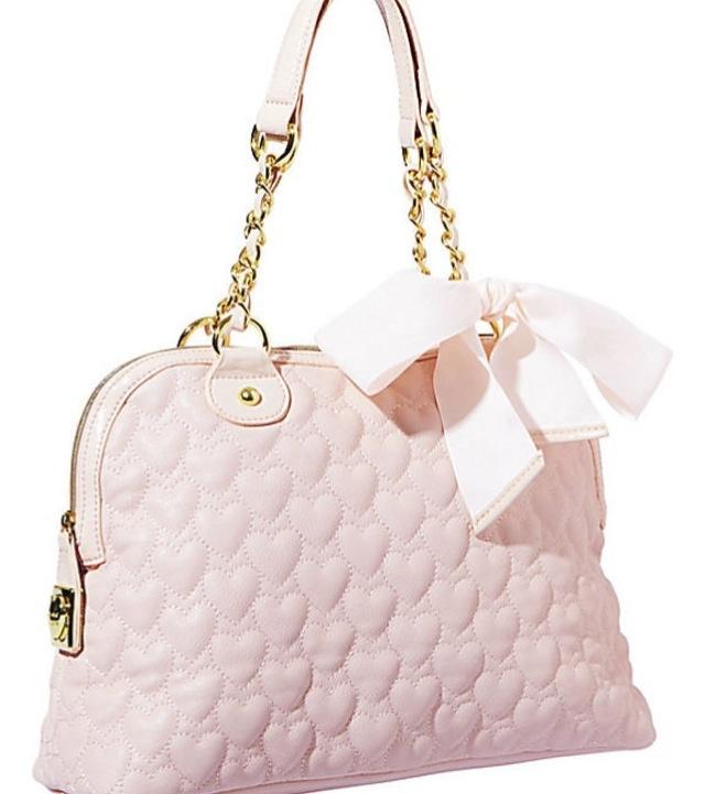 Betsy Johnson pink bow purse