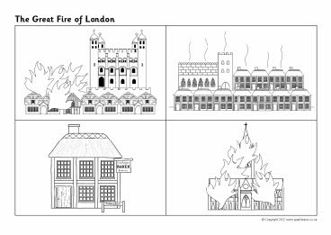 Great Fire of London sequencing sheets (SB8885) - SparkleBox