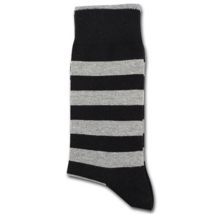 Democratique Socks Originals MONOCHROME 2-pack STRIPER Black / Lightgrey - Shop | Democratique Socks