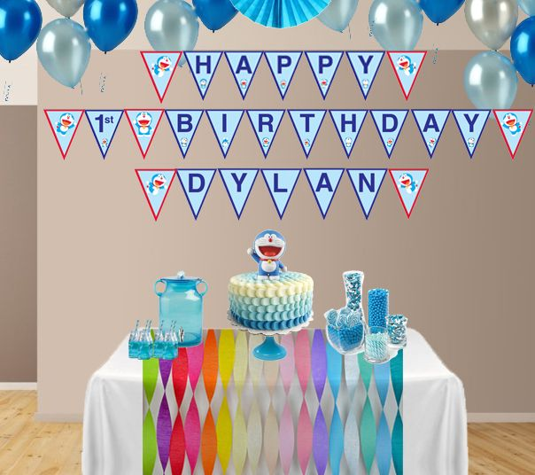 Hosting a Doraemon theme party? Get your Doraemon personalized happy birthday banner (Digital File) from KungFuMaMa. https://www.etsy.com/listing/201328524/doraemon-personalized-happy-birthday?ref=shop_home_active_2