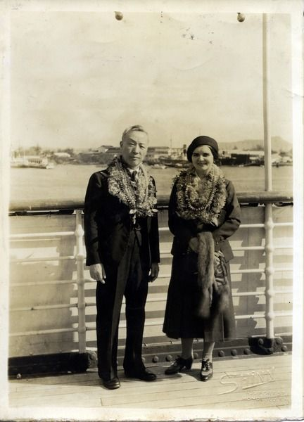 In February 1933, during League of Nations meetings, Rhee met Austrian Franziska Donner in Geneva, Donner, an interpreter married Rhee in October 1934 in New York, and she became his secretary. Agnes Rho Chun Collection, Center for Korean Studies Digital Archive, USC.