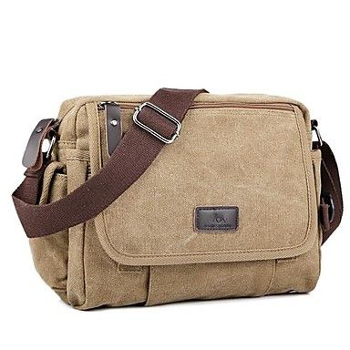 Unisex Canvas Casual Shoulder Bag Yellow / Brown / Black 1055884 2016 – $24.99