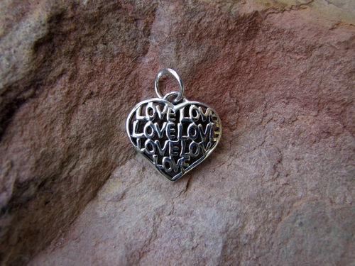 Thinking Valentines Day? Check this Sterling Silver Love Message Open Pendant $35.00 from Sweet Sweet Silver.