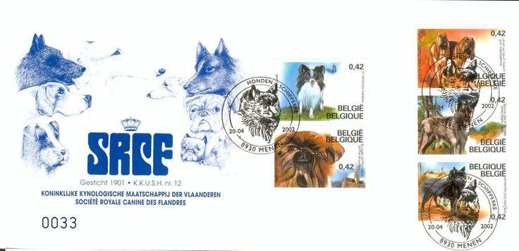 Belgium Michel Nr. 3114-3118 on MC MK dogs Hunde hq63