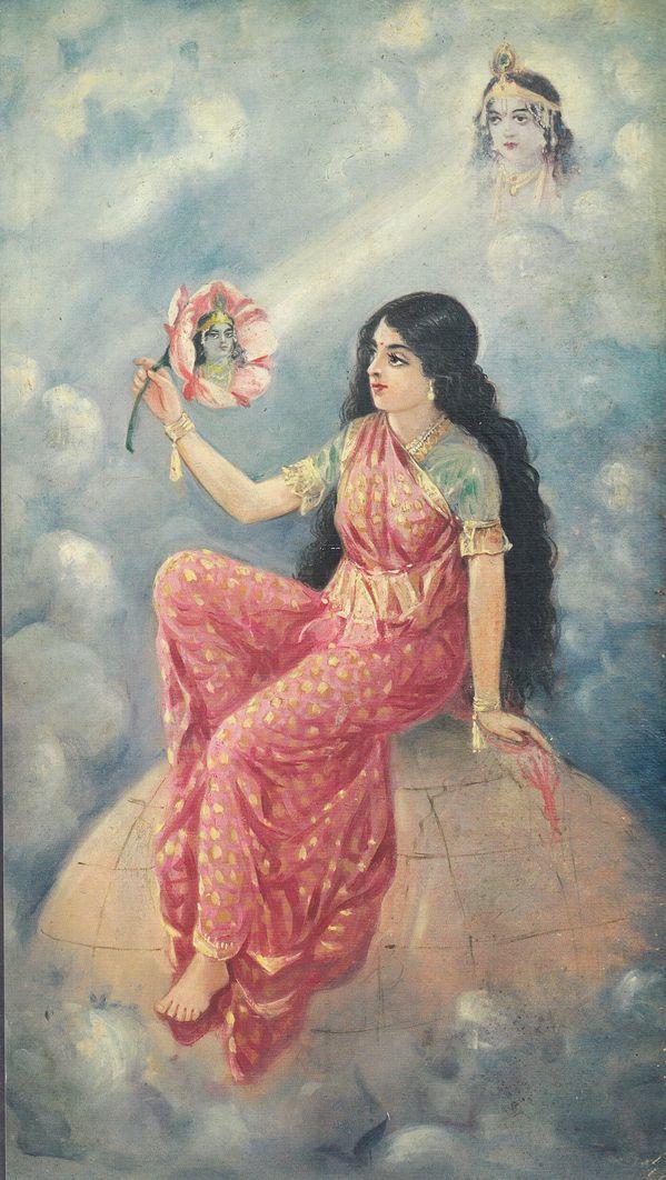 Radha Krishna by Ustad Allah Bukhsh