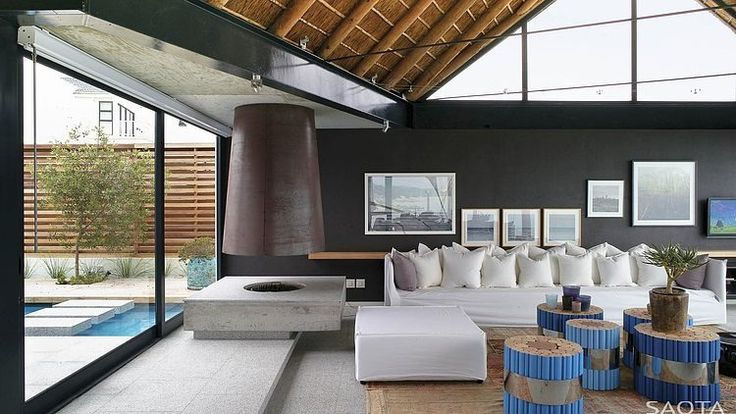 Designed by SAOTA for a young family, this luxurious holiday home is situated in Shelley Point, South Africa.