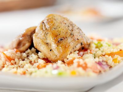 Delicious version of my favorite Colombian dish, arroz con pollo. The quinoa provides added protein