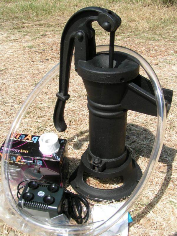 NEW GARDEN Hand Well Water Pump Cast Iron COMPLETE