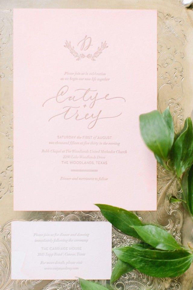 Elegant Dip Dyed Pink and Gold Wedding