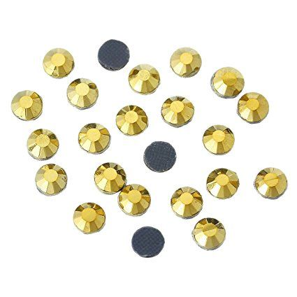 1000x Hotfix Strass Steine 5mm golden