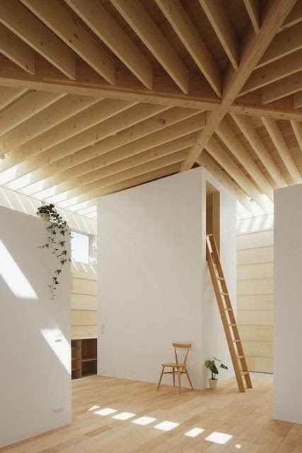 Ceilings Beams, Interiors, Ceilings Design, Wood Ceilings, Architecture, Wall House, Minimalist Home, Lights Wall, Ma Styl Architects