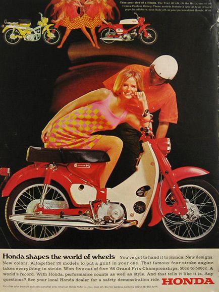 Vintage Honda 90 & Honda Rally Motorcycle Ad - 1967