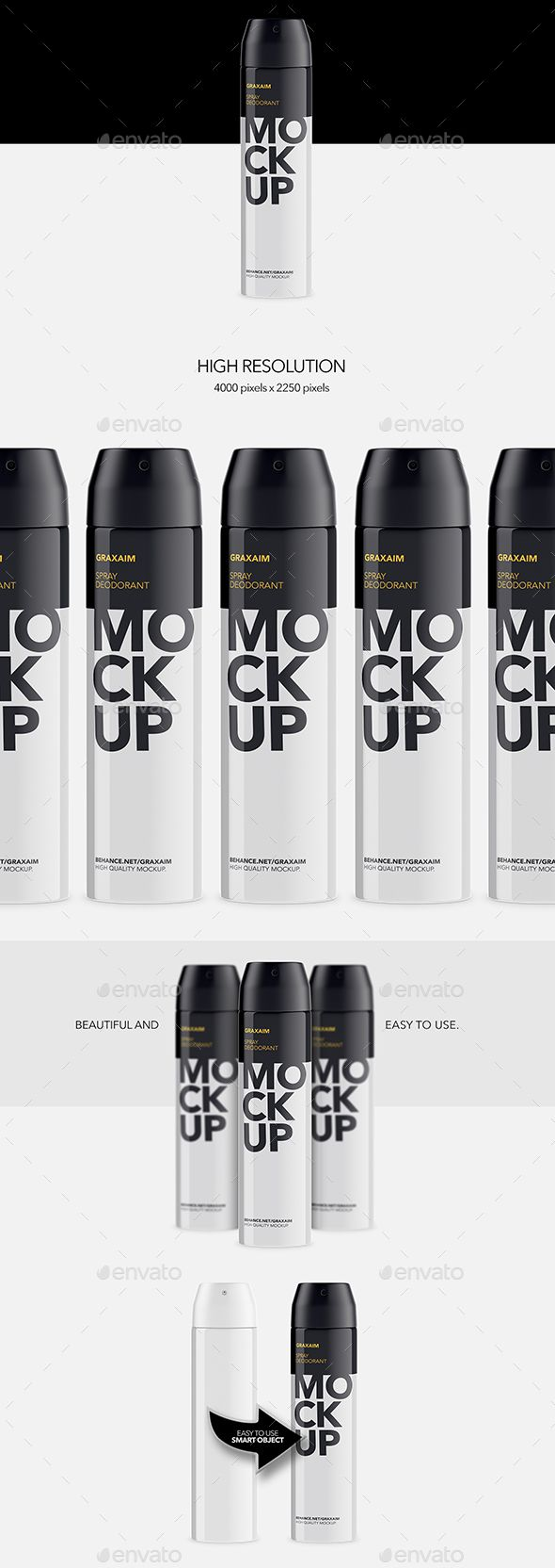 Metallic Spray Bottle Deodorant  Mockup — Photoshop PSD #exclusive #deodorant • Available here → https://graphicriver.net/item/metallic-spray-bottle-deodorant-mockup/19220063?ref=pxcr