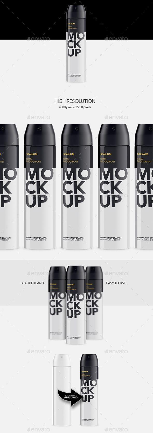 Metallic Spray Bottle Deodorant - Mockup by Graxaim Metallic Spray Bottle Deodorant �20Mockup Featured 1 mockup