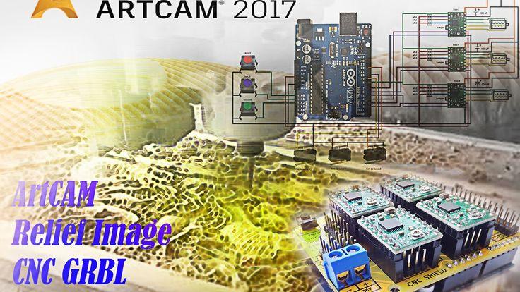 ArtCAM Relief Image CNC GRBL Arduino Part 3