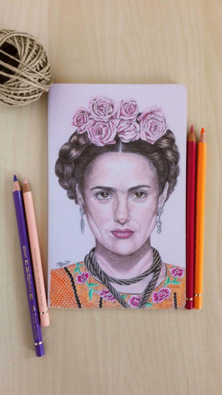 Frida Kahlo Movie Custom Moleskine Handpainted Notebook de FamilyArtshop en Etsy https://www.etsy.com/es/listing/252749056/frida-kahlo-movie-custom-moleskine
