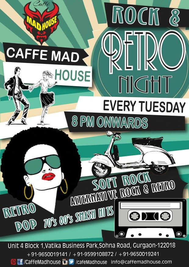 Dance to the songs and tunes that we made famous. Join DJ Chirag as he takes you back to good old days and make you relive old school music era... #rockandretro #rocknights