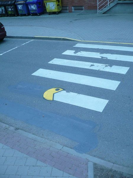 """Awa awa awa awa awa awa."" Watch out, Pac-Man's walking 'ere!"