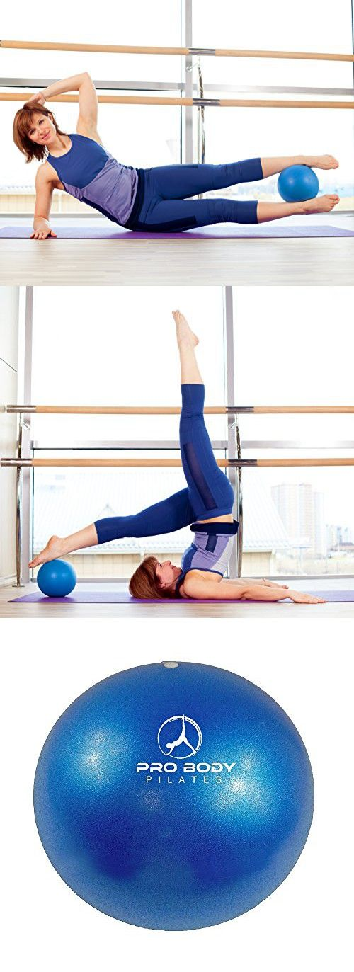 ProBody Pilates Blue Mini Exercise Ball - Premium 9-Inch Stability Ball for Pilates, Yoga, Training and Physical Therapy