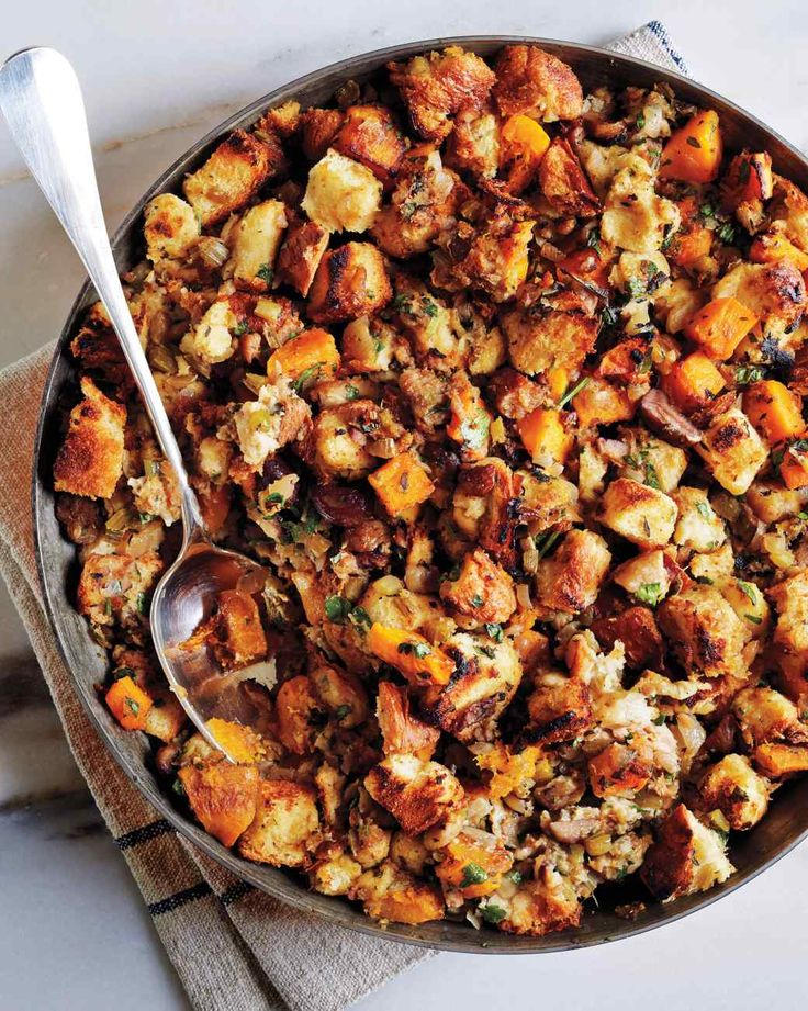 Squash, Chestnut, and Brioche Stuffing