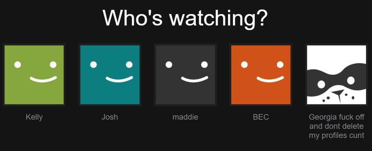 The shared Netflix account of an Australian family