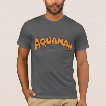Aquaman Orange Logo T-Shirt - click/tap to personalize and buy