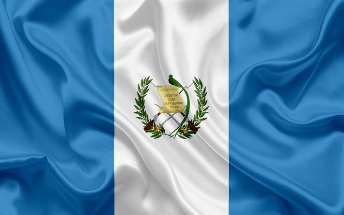 Herunterladen hintergrundbild guatemaltekische flagge, central america, guatemala, flagge, flagge von guatemala