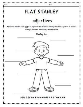 Flat Stanley adjectives, acrostic, bookmarks, bingo, envelope foldables, stamps, etc.