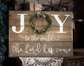 Joy to the world the Lord has come, Religious Christmas sign, Shiplap sign, Mantle decor, shiplap, rustic decor, Christmas decor, Holiday