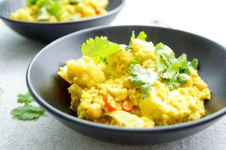 Es ist kein Zufall, dass ich dieses One Pot Rezept für Blumenkohl und Kichererbsen Curry mit Hirse gemacht habe. Seit einer Woche verfüge ich nur über eine Herdplatte, da die neue Küche noch auf si…