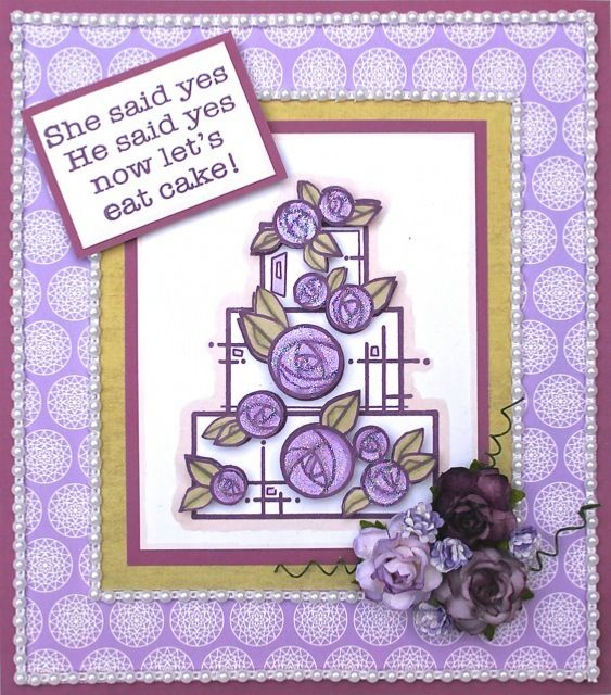 Woodware Wedding Cake Clear Stamp