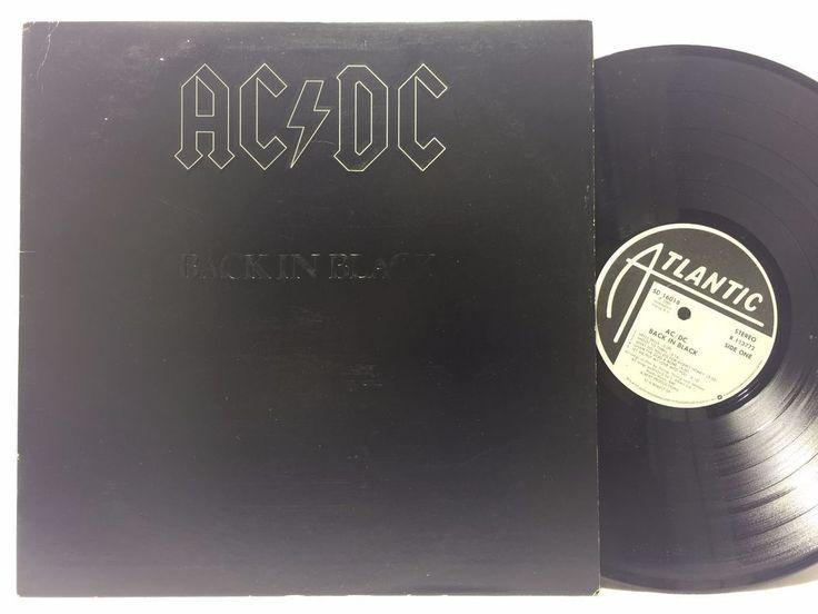 AC/DC- Back In Black, Atlantic SD 16018 RL Ludwig Masterdisk LP #Vinyl Record