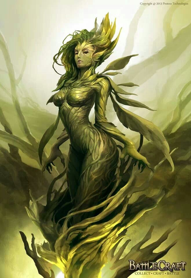 Earth Nymph/Dryad. Amily. Specialises in covering all the senses at once.[faerie]