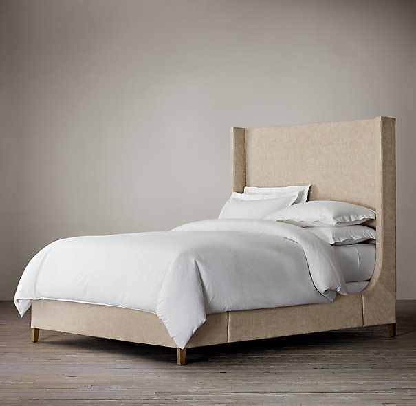 Grayson Fabric Sleigh Bed Without Footboard - bed comes with and without foot board
