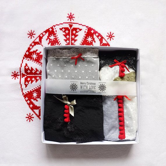 4x Panties Special Christmas gift High waisted by CocoonUndies