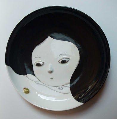 """""""Doriphore' - ceramic face plate"""