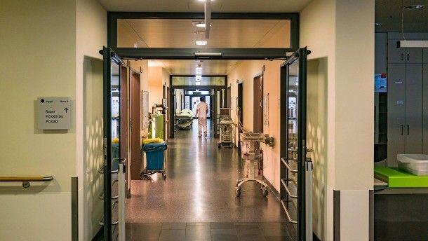 """Im Neubau der Hochtaunus-Kliniken in Bad Homburg: Das Krankenhaus verspricht auf seiner Internetseite """"modernste Medizin auf höchstem Qualitätsniveau""""."""