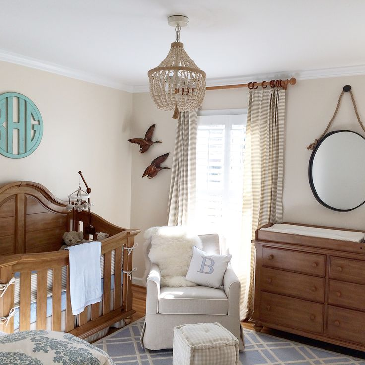 For our baby boy - I went for a simple, classic, boyish but sophisticated look. #nursery #babyboy