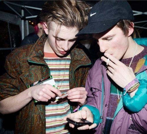 Zach Robinson & Austin Williams from indie-pop British band Swim Deep