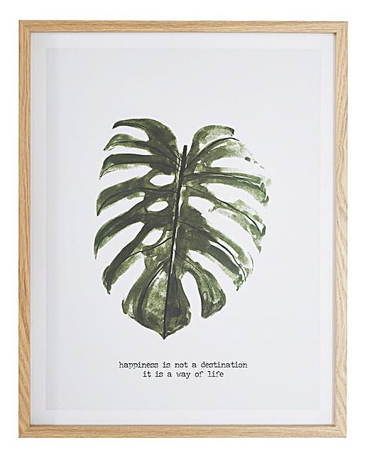 Palm Leaf Paperwrap Hanging Plaque | J D Williams