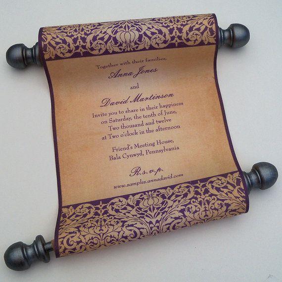 The 25 best Scroll wedding invitations ideas on Pinterest